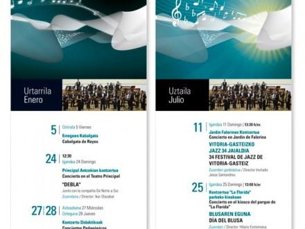 Diseño, maquetación de carteles, programas y dípticos de la Banda Municipal.