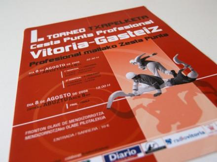 Cartel y fotografías para el I. Torneo Cesta Punta Profesional.
