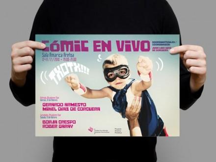 Diseño de carteles para Proyecto Amárica de la DFA.