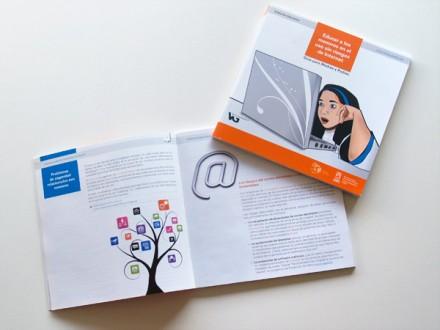 Diseño y maquetación del libro Educar a los menores en el uso sin riesgos de Internet. Ayuntamiento de Vitoria-Gasteiz.