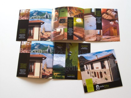 Diseño de la identidad gráfica y fotografías de la casa rural Gaztelubidea.