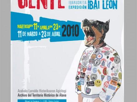 Diseño cartel de la exposición Gente Corriente para la Diputación Foral de Álava.