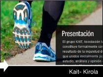 Diseño web de la página de Kait Kirola. Pais Vasco.