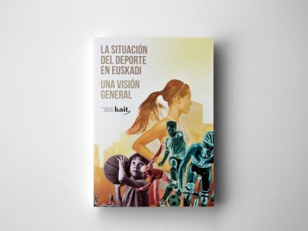 Maquetación y diseño de portada para el libro de la Asociación Vasca de Gestores del Deporte. La situación del deporte en Euskadi. País Vasco.