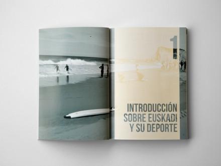 Maquetación y diseño editorial de interiores para la Asociación Vasca de Gestores del Deporte. País Vasco.