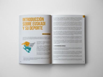Maquetación y diseño editorial para Asociación Vasca de Gestores del Deporte. País Vasco.
