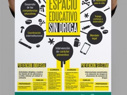 Diseño cartel VITORIA-GASTEIZ ESPACIO EDUCATIVO SIN DROGA. Ayuntamiento de Vitoria-Gasteiz.