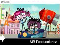 Diseño web de la productora audiovisual MB Producciones. Vitoria-Gasteiz. Pais Vasco