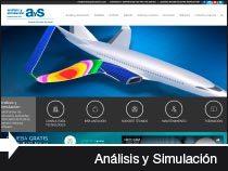 Diseño web de Análisis y Simulación Fabricación. Miñano. Álava. País Vasco.