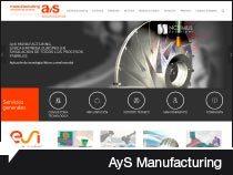 Diseño web de AyS Manufacturing. Miñano. Álava. País Vasco.