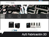 Diseño web de Análisis y Simulación Fabricación 3D. Miñano. Álava. País Vasco.