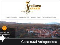 Diseño web de la casa rural Arriga Etxea. Lagrán. Montaña Alavesa. Álava.