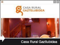 Diseño web casa rural Gaztelubidea. Bernedo. Montaña Alavesa. País Vasco.