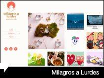 Diseño web de Milagros a Lurdes. Diseño gráfico. Euskadi.