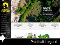 Diseño web Paintball Iturgutxi. Galarreta. Euskadi.