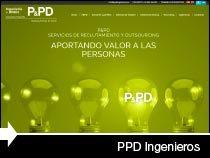 Diseño web PPD Ingenieros. Vitoria-Gasteiz. Miñano. Pais Vasco.