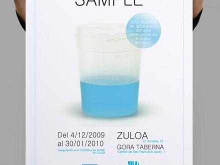 Diseño del cartel de la exposición A+A en espacio Zuloa.