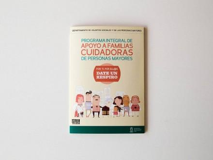 Diseño y maquetación del Programa Integral de Apoyo a Familias Cuidadoras de los Centros Socioculturales de Mayores de Vitoria-Gasteiz. Álava. País Vasco.