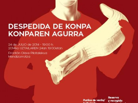 Diseño del cartel y los elementos de comunicación de la despedida del pelotari Konpa. Vitoria-Gasteiz. País Vasco.