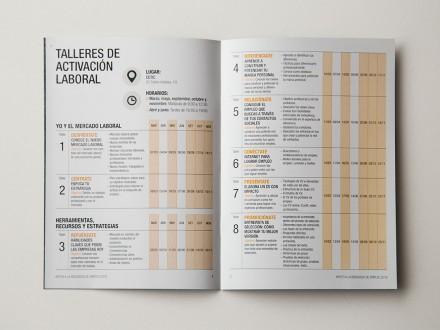 Diseño gráfico y maquetación del folleto del Plan Integral de Orientación para la Búsqueda de Empleo 2016 del Ayuntamiento de Vitoria-Gasteiz. Álava. País Vasco.